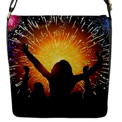 Celebration Night Sky With Fireworks In Various Colors Flap Messenger Bag (s)
