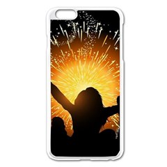 Celebration Night Sky With Fireworks In Various Colors Apple Iphone 6 Plus/6s Plus Enamel White Case