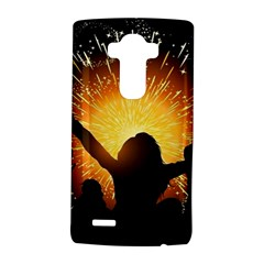 Celebration Night Sky With Fireworks In Various Colors LG G4 Hardshell Case