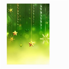 Christmas Green Background Stars Snowflakes Decorative Ornaments Pictures Large Garden Flag (two Sides)