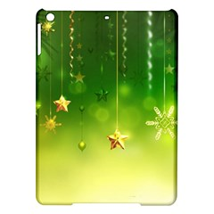 Christmas Green Background Stars Snowflakes Decorative Ornaments Pictures Ipad Air Hardshell Cases