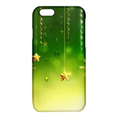 Christmas Green Background Stars Snowflakes Decorative Ornaments Pictures iPhone 6/6S TPU Case