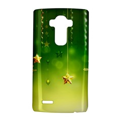 Christmas Green Background Stars Snowflakes Decorative Ornaments Pictures LG G4 Hardshell Case