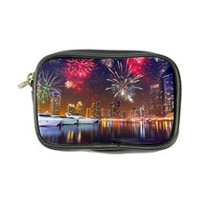 Christmas Night In Dubai Holidays City Skyscrapers At Night The Sky Fireworks Uae Coin Purse