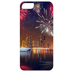 Christmas Night In Dubai Holidays City Skyscrapers At Night The Sky Fireworks Uae Apple Iphone 5 Classic Hardshell Case