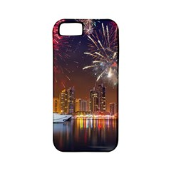 Christmas Night In Dubai Holidays City Skyscrapers At Night The Sky Fireworks Uae Apple Iphone 5 Classic Hardshell Case (pc+silicone)
