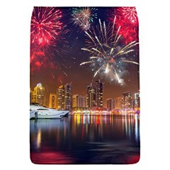 Christmas Night In Dubai Holidays City Skyscrapers At Night The Sky Fireworks Uae Flap Covers (s)
