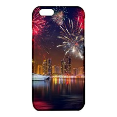Christmas Night In Dubai Holidays City Skyscrapers At Night The Sky Fireworks Uae iPhone 6/6S TPU Case