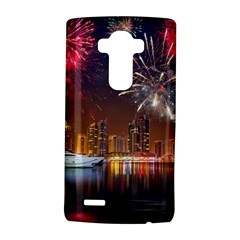 Christmas Night In Dubai Holidays City Skyscrapers At Night The Sky Fireworks Uae LG G4 Hardshell Case