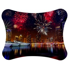 Christmas Night In Dubai Holidays City Skyscrapers At Night The Sky Fireworks Uae Jigsaw Puzzle Photo Stand (Bow)