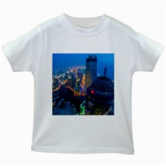 City Dubai Photograph From The Top Of Skyscrapers United Arab Emirates Kids White T Shirts