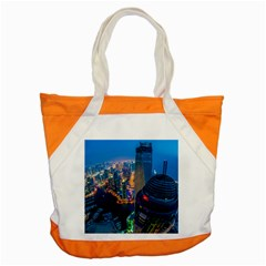 City Dubai Photograph From The Top Of Skyscrapers United Arab Emirates Accent Tote Bag