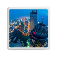City Dubai Photograph From The Top Of Skyscrapers United Arab Emirates Memory Card Reader (square)