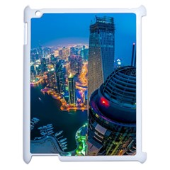 City Dubai Photograph From The Top Of Skyscrapers United Arab Emirates Apple Ipad 2 Case (white)