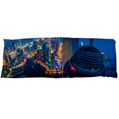 City Dubai Photograph From The Top Of Skyscrapers United Arab Emirates Body Pillow Case Dakimakura (two Sides)