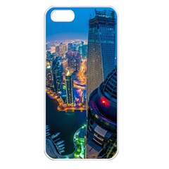 City Dubai Photograph From The Top Of Skyscrapers United Arab Emirates Apple Iphone 5 Seamless Case (white)