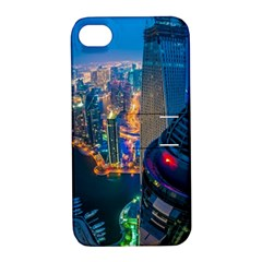 City Dubai Photograph From The Top Of Skyscrapers United Arab Emirates Apple Iphone 4/4s Hardshell Case With Stand