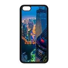 City Dubai Photograph From The Top Of Skyscrapers United Arab Emirates Apple Iphone 5c Seamless Case (black)
