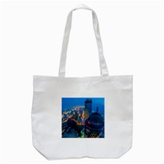 City Dubai Photograph From The Top Of Skyscrapers United Arab Emirates Tote Bag (white)