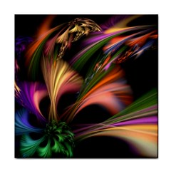 Color Burst Abstract Tile Coasters