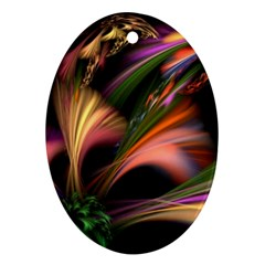 Color Burst Abstract Ornament (oval)
