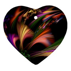 Color Burst Abstract Ornament (heart)