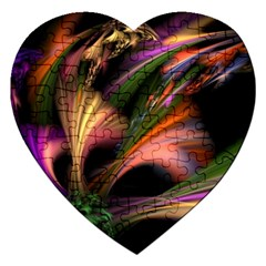 Color Burst Abstract Jigsaw Puzzle (heart)