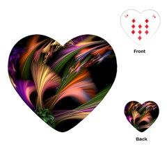 Color Burst Abstract Playing Cards (heart)