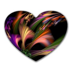 Color Burst Abstract Heart Mousepads