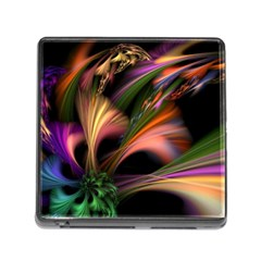 Color Burst Abstract Memory Card Reader (square)