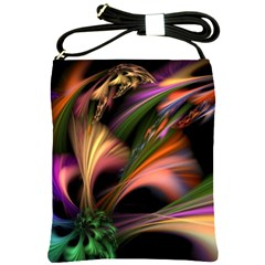 Color Burst Abstract Shoulder Sling Bags