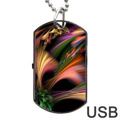 Color Burst Abstract Dog Tag Usb Flash (two Sides)