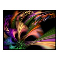 Color Burst Abstract Double Sided Fleece Blanket (small)