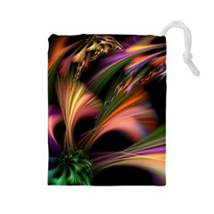 Color Burst Abstract Drawstring Pouches (large)