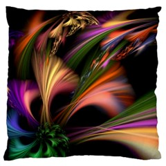 Color Burst Abstract Standard Flano Cushion Case (one Side)