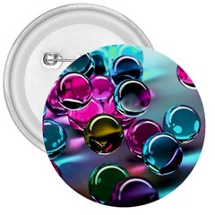 Colorful Balls Of Glass 3d 3  Buttons