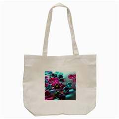 Colorful Balls Of Glass 3d Tote Bag (cream)