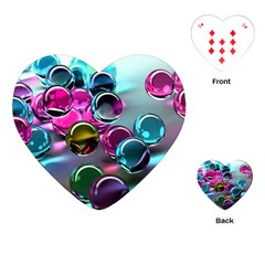 Colorful Balls Of Glass 3d Playing Cards (heart)