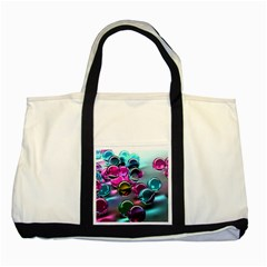 Colorful Balls Of Glass 3d Two Tone Tote Bag