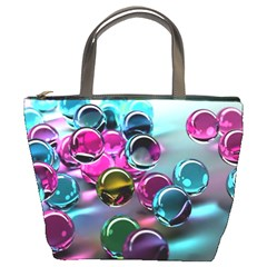 Colorful Balls Of Glass 3d Bucket Bags