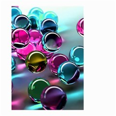 Colorful Balls Of Glass 3d Small Garden Flag (two Sides)