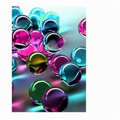 Colorful Balls Of Glass 3d Large Garden Flag (two Sides)
