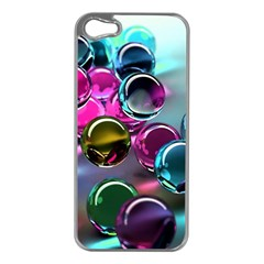 Colorful Balls Of Glass 3d Apple Iphone 5 Case (silver)