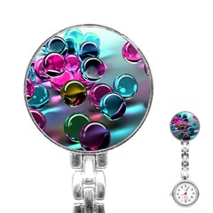 Colorful Balls Of Glass 3d Stainless Steel Nurses Watch