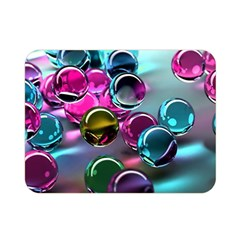 Colorful Balls Of Glass 3d Double Sided Flano Blanket (mini)
