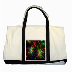 Colorful Firework Celebration Graphics Two Tone Tote Bag