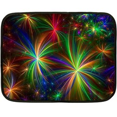 Colorful Firework Celebration Graphics Fleece Blanket (mini)