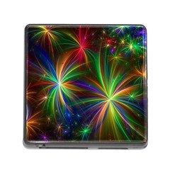 Colorful Firework Celebration Graphics Memory Card Reader (square)