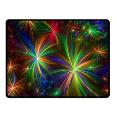 Colorful Firework Celebration Graphics Double Sided Fleece Blanket (small)