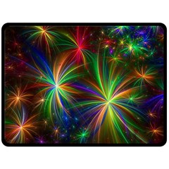 Colorful Firework Celebration Graphics Double Sided Fleece Blanket (large)